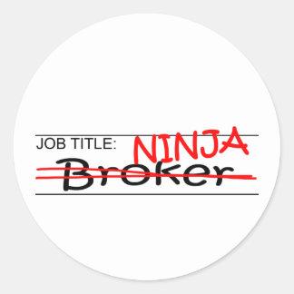 Agente de Ninja del cargo Etiqueta