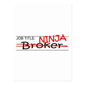 Agente de Ninja del cargo Postal