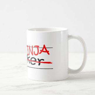Agente de Ninja del cargo Taza De Café