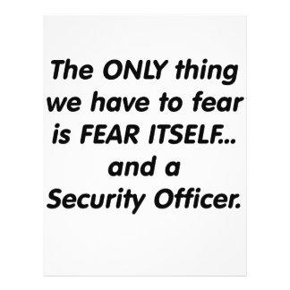 Agente de seguridad del miedo tarjeta publicitaria