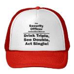 agente de seguridad gorras de camionero