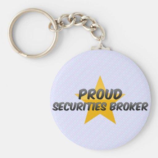 Agente de seguridades orgulloso llavero redondo tipo pin