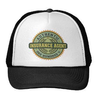 Agente de seguro auténtico gorras de camionero