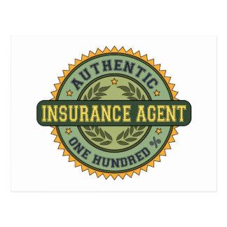 Agente de seguro auténtico tarjeta postal