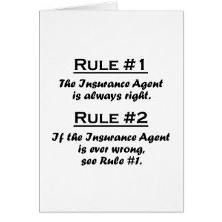 Agente de seguro de la regla felicitacion