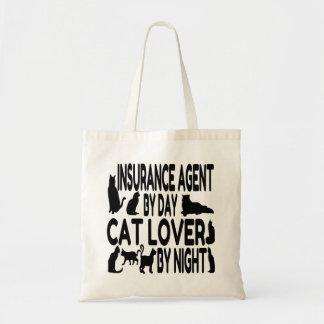 Agente de seguro del amante del gato bolsas lienzo