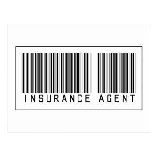 Agente de seguro del código de barras tarjetas postales