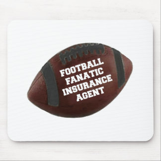 Agente de seguro fanático del fútbol mouse pad
