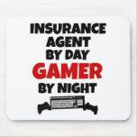 Agente de seguro por videojugador del día por noch tapete de raton