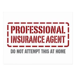 Agente de seguro profesional tarjeta postal