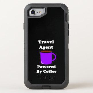 """""""Agente de viajes"""" accionado por el café Funda OtterBox Defender Para iPhone 7"""