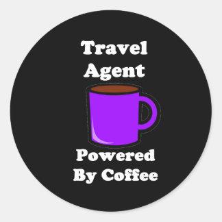 """""""Agente de viajes"""" accionado por el café Pegatina Redonda"""