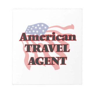 Agente de viajes americano bloc de papel