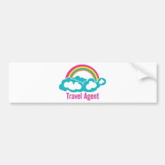 Agente de viajes de la nube del arco iris pegatina para auto