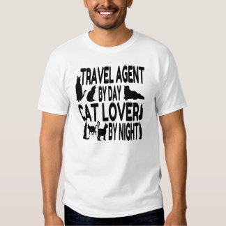 Agente de viajes del amante del gato playera
