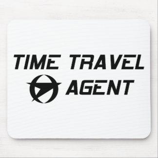 Agente de viajes del tiempo alfombrilla de ratones