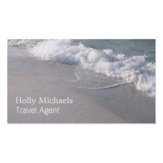 Agente de viajes - olas oceánicas y arena de la tarjetas de visita