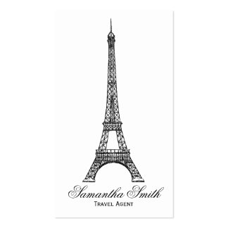 Agente de viajes parisiense de la torre Eiffel del Tarjeta Personal