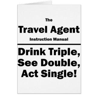 agente de viajes tarjetas