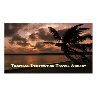 Agente de viajes tarjeta de negocio