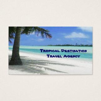 Agente de viajes tarjetas de visita
