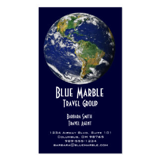 Agente de viajes y Agency_blue marble_global Plantilla De Tarjeta De Visita