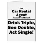 agente del alquiler de coches felicitaciones