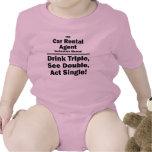 agente del alquiler de coches traje de bebé