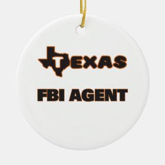 Agente del FBI de Tejas Adorno Redondo De Cerámica