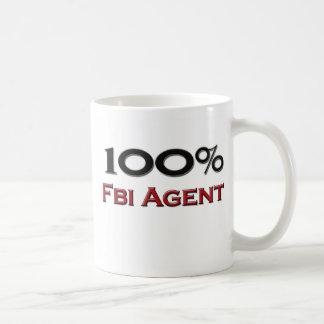 Agente del FBI del 100 por ciento Tazas De Café