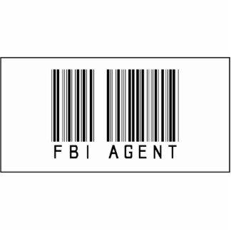Agente del FBI del código de barras Adorno Fotoescultura