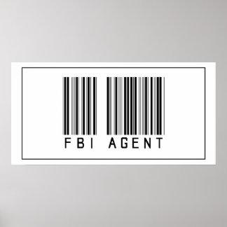 Agente del FBI del código de barras Poster