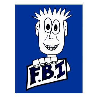 Agente del FBI del dibujo animado Postales