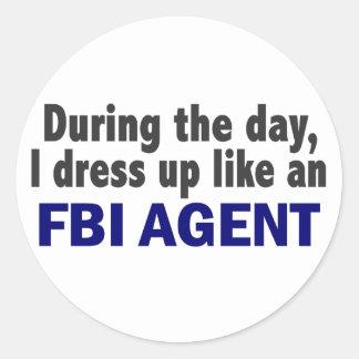 Agente del FBI durante el día Pegatina Redonda