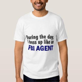 Agente del FBI durante el día Playera