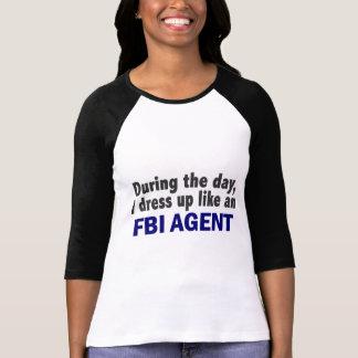 Agente del FBI durante el día Playeras