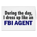Agente del FBI durante el día Tarjetón
