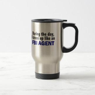 Agente del FBI durante el día Taza De Viaje De Acero Inoxidable