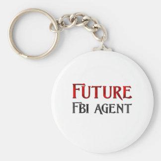 Agente del FBI futuro Llavero Redondo Tipo Pin