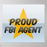 Agente del FBI orgulloso Poster