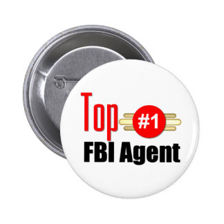 Agente del FBI superior Pin Redondo De 2 Pulgadas