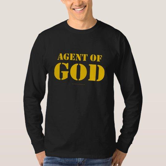 Agente del negro de dios playera
