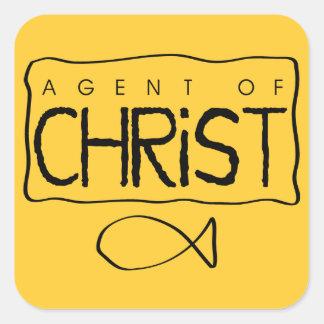 Agente del pegatina de Cristo