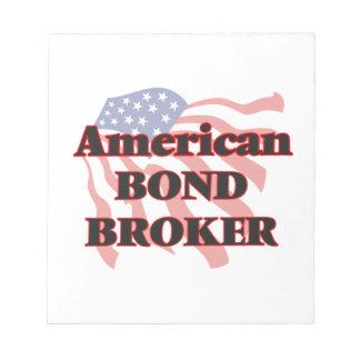 Agente en enlace americano blocs de papel