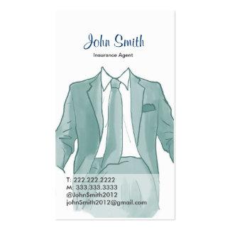 Agente en una tarjeta del perfil del dibujo del ju tarjeta personal