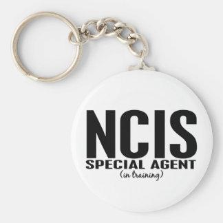 Agente especial de NCIS en el entrenamiento 1 Llavero Redondo Tipo Pin