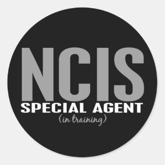 Agente especial de NCIS en el entrenamiento 1 Pegatina Redonda
