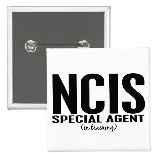 Agente especial de NCIS en el entrenamiento 1 Pin Cuadrada 5 Cm