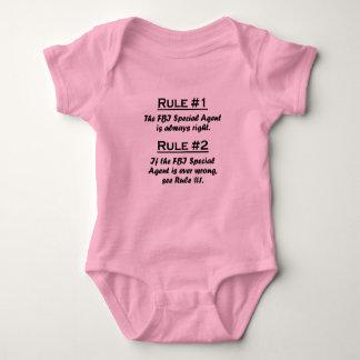 Agente especial del FBI de la regla Body Para Bebé
