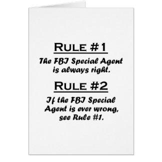 Agente especial del FBI de la regla Tarjeta Pequeña